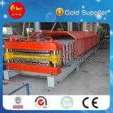 Máquina rolante de rolo de telhado duplo metálico completo Hky fabricada na China