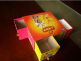 Rectángulo de papel de empaquetado de la diapositiva del estilo del cajón del regalo