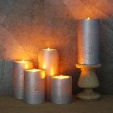 Vela movente Flameless do diodo emissor de luz do feltro de lubrificação da vela de Luminara com parte superior lisa para a decoração do casamento