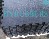 反スリップの黒の連結のゴム製粉の馬小屋のマット