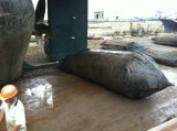 Bateau en caoutchouc lançant le sac à air marin, ballon marin pour le récipient