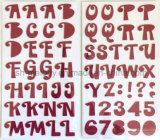 De grote Stickers van het Schuim van Alfabetten voor Scrapbooking en Cardmaking