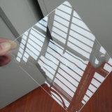Folha acrílica do molde transparente plástico para anunciar o sinal