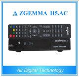 Receptor Zgemma H5 da tevê de ATSC Digitas. C.A. com sustentação Hevc H. 265 do ósmio do linux Enigma2