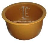 はさみ金の鍋か陶磁器の調理はさみ金を調理しているブラウンはTerrattaを艶をかけた