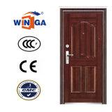 Puerta de acero del color de madera de metal del hierro de la mejor seguridad de la venta (W-S-145)
