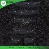 Clip non trattata dei capelli umani in capelli 100% di Remy del Virgin dei capelli per la donna di colore