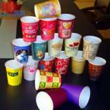 Taza de papel impresa aduana disponible