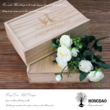 Hongdao kundenspezifisches hölzernes Foto und USB-Kasten für Wedding Wholesale_L