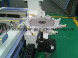 Ponto para apontar o centro fazendo à máquina do CNC