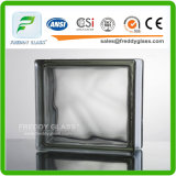 Bloc en verre/brique en verre/brique faisante le coin en verre/brique d'épaule/bloc en verre transparent