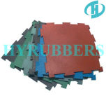 Высокое качество Factory Produced Interlock Black с EPDM Rubber Gym Floor Tile