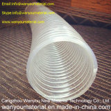 Tubo transparente del alambre de acero del PVC/manguito arriba transparente