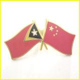 柔らかいエナメルを塗られた合金中国および東部チモール島のフラグPin