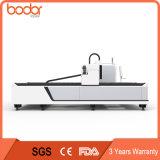 Tagliatrice del laser della fibra di CNC del tubo del tubo del metallo dell'argento dell'acciaio inossidabile di prezzi 1000W