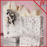 백색/Kraft Versa에 의하여 재생된 손잡이는 단단한 Kraft 선물 부대를 자루에 넣는다