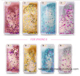 Alta qualidade TPU 3D Liquid Sand Crystal Quicksand Case para iPhone 6 6s Mobile / Cell Phone Cover Cases