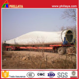4 Eixos Flabed Wind Blade Transport Extendable Trailer