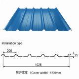 Strati trapezoidali del rivestimento del metallo di profilo del tetto/casella di Anti-Condensazione