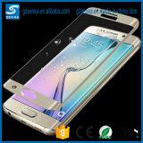 Samsung S6の端のための3D完全なカバー緩和されたガラススクリーンの保護装置と