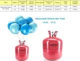 Gás descartável do balão do hélio