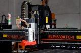Máquina de fabricación de muebles de 1500 * 3000 mm, Router CNC de 4 ejes Atc con Rotary