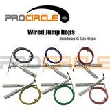 Corda di salto alluminosa di velocità del collegare del cavo della presa di Crossfit (PC-JR1013)