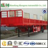de Semi Aanhangwagen van het Nut van de Zijgevel 3axle 40tons met het Slot van de Container