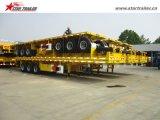 Tri-Axle 40-60ton груза платформы трейлер Semi с замками контейнера
