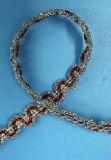 Край шнурка Sequins высокого качества глянцеватый для одежды