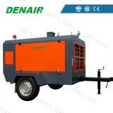 Langlebiges Gut Öl-Eingespritzter beweglicher/mobiler/beweglicher Luftkühlung-Luftverdichter