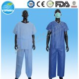 Мантия одежды стационара PP терпеливейшая, синяя мантия изоляции PP