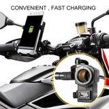 Chargeur imperméable à l'eau de l'adaptateur d'alimentation USB de bride de guidon de moto de sortie de l'adaptateur 5V/2.1A 1 USB de port de pouvoir d'USB avec le plot d'allumeur de cigarette de véhicule