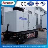 groupe électrogène diesel de la remorque 100kw mobile avec l'engine refroidie à l'eau de Weichai