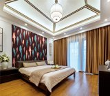 Nuevo papel pintado de los pescados del estilo chino del diseño para el dormitorio