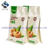 Flacher Unterseiten-Ziploc aluminisierter Nuts Verpackungs-Beutel