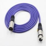 Varón del cable de la aleación 3pin XLR del cinc a la hembra para el micrófono