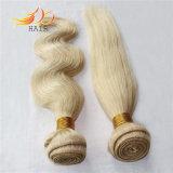100%のモンゴル人のRemyの毛のブロンドに薄い色の毛の編むこと