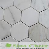 Das Qualitäts-GoldCalacatta Hexagon-Poliermosaik-Stein-Mosaik