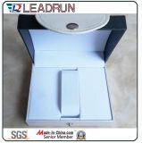 Hölzerne Uhr-verpackenkasten-Samt-ledernes Papier-Uhr-Speicher-Fall-Uhr-Verpackungs-Geschenk-Bildschirmanzeige-Verpackungs-Kasten (Lw055)