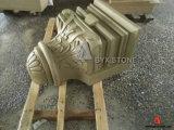 De beige Kolom van het Zandsteen voor het Architecturale Project van de Bouw