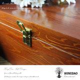 Caixa de presente de madeira vermelha chinesa de Hongdao com _E direto da fonte de Factiry da tampa da dobradiça