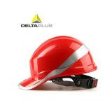 ABS aislado del casco de seguridad del diamante 5 de Deltaplus con la raya reflexiva