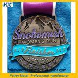 女性の実行のためのカスタマイズされた記念品メダル、フィニッシャーは、めっきされてAntique