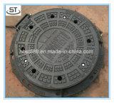 Couverture de trou d'homme ronde de fer malléable d'En124 D400 avec le bâti