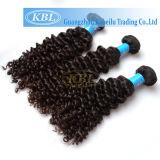 Linha real extensões coloridas Curly dos peixes de Remy do cabelo de Ombre