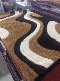 カスタマイズされる100%年のPolyeterの極度の柔らかい絹のカーペットの織物