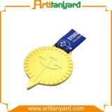 Medaglia di lusso dorata di disegno del cliente