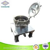 Centrifugador liso do filtro da descarga cheia da parte superior do padrão de alimento do aço inoxidável para o petróleo de palma