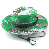 縁のCamoのカスタム広い帽子のストリングが付いている軍の軍隊のバケツの帽子